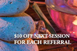 $10 off next session New patients get $10 off their first massage with us in Fargo